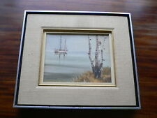 Leon Phinney (1924-1999) Original Oil Painting Boat at Anchor