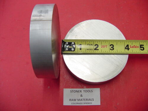 """2 Pieces 4-1//4/"""" OD ALUMINUM 6061 ROUND ROD 1/"""" LONG SOLID T6511 Lathe Bar Stock"""