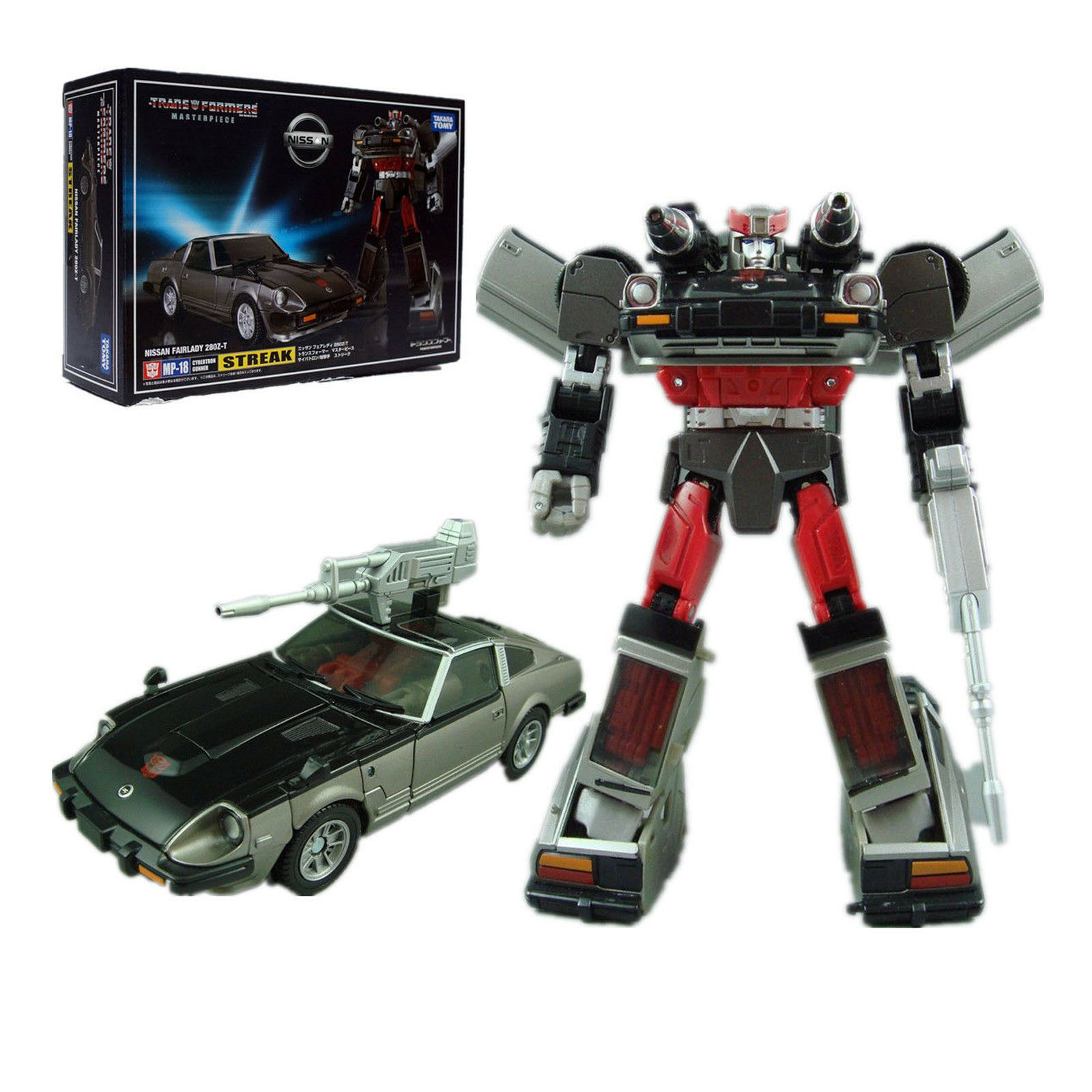 Transformers Masterpiece MP-18 MP18 STREAK Autobots Kids Gift Toys Cars X-mas