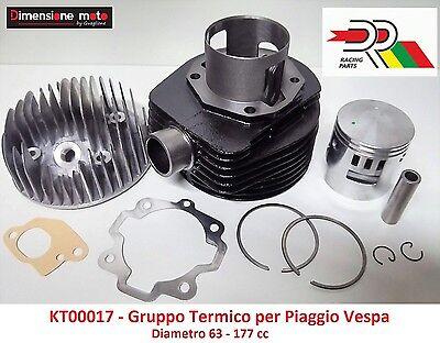 GRUPPO TERMICO DR D.63 CILINDRO PISTONE 177cc PER PIAGGIO VESPA COSA 125-150