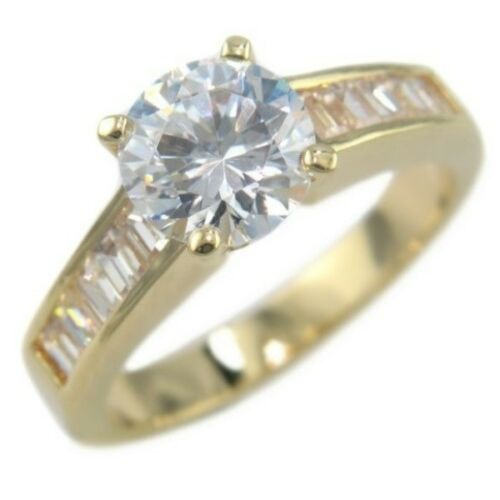 8 2.85 ROUND BAGUETTES SOLITAIRE ANNIVERSARY WEDDING RING size #5 9