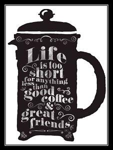 Cafe Man Cave Life Is Too Short Coffee Retro metal Aluminium Sign vintage