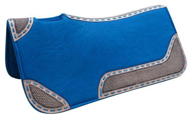Showman® 32  x 31  x 1  Turquoise blended felt saddle pad