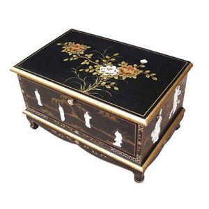 Mother of pearl oriental furniture black lacquer tv unit for Oriental furniture australia