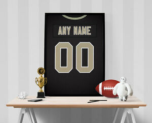 New Orleans Saints Jersey Poster - Personalized Name & Number FREE US SHIPPING