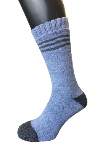 1-15 PAIR LONG THERMAL EXTRA THICK  FLEECE LINED  WORK SOCK SHAANN SKI SOCK