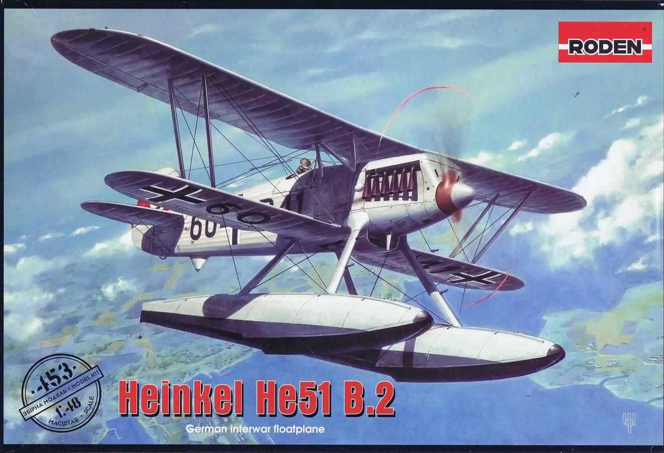 Roden 1 48 Heinkel He 51B-2 float plane