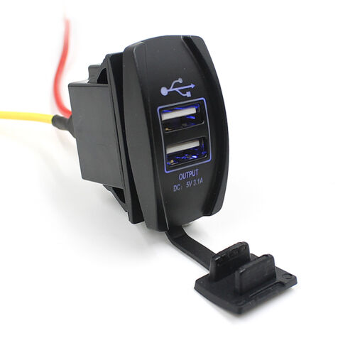 Hot 12V 24V Car Auto Boat Accessory Dual USB Charger Power Adapter LED Outlet