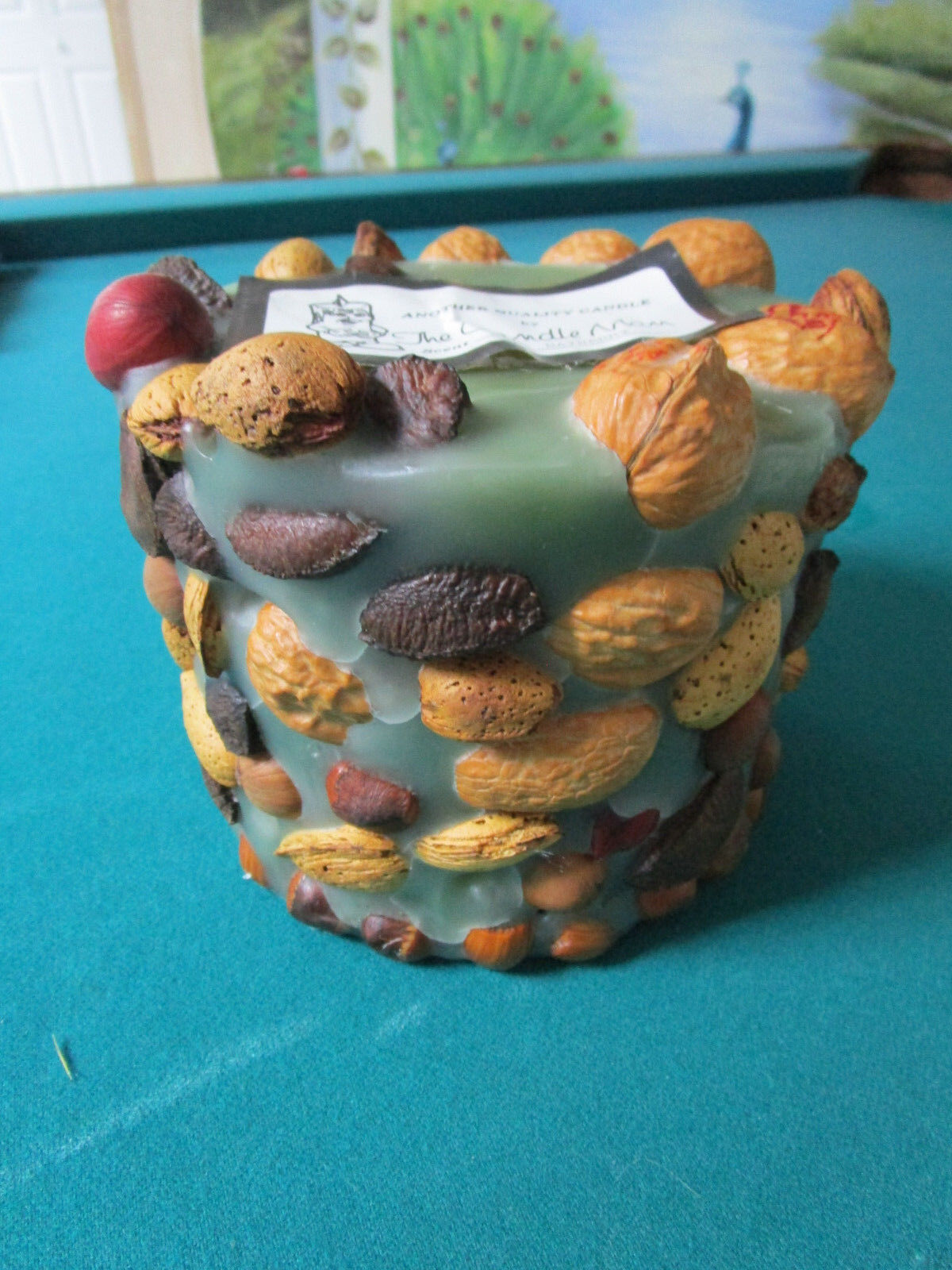 CHRISTMAS CANDLE NUTS AND DRY TREATS 6 X 6  NEW