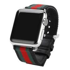 Cuoio E Tela Ricambio Cinturino Per Orologio Apple orologio Serie 1 & 2 42mm