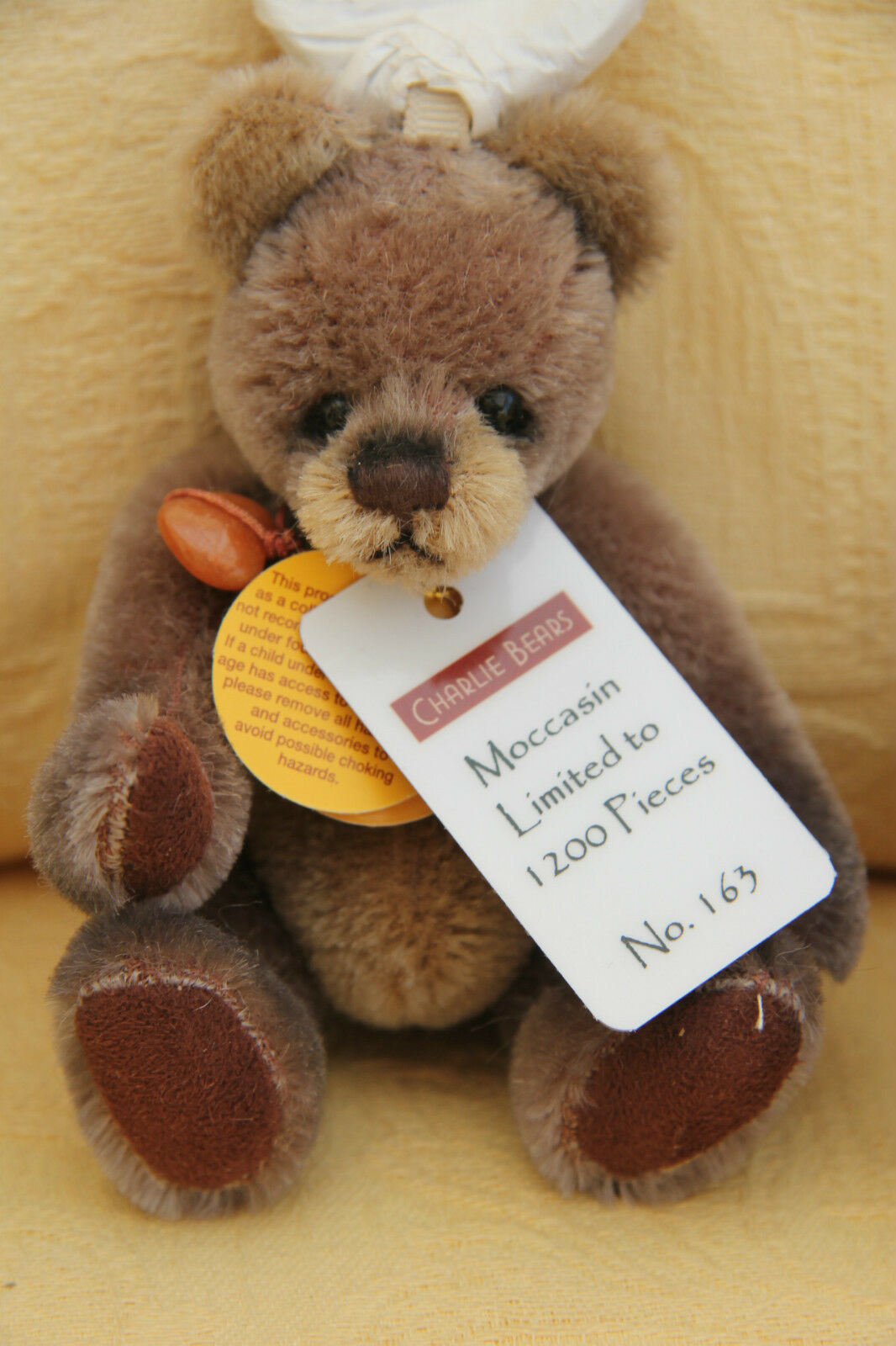 Brand New Charlie Bears Mohair Keyring - MOCCASIN - Limited Edition