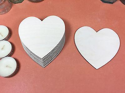 x10 WOODEN VINTAGE HEARTS Shapes 10cm laser cut wood crafts blank shape