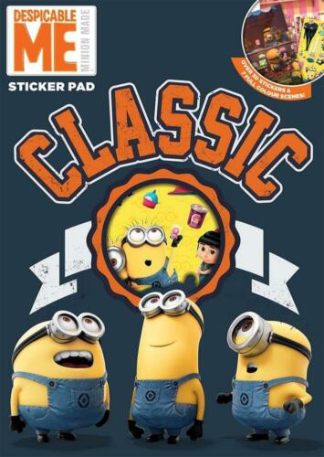 Despicable Me Minions Sticker Pad With Reusable Stickers