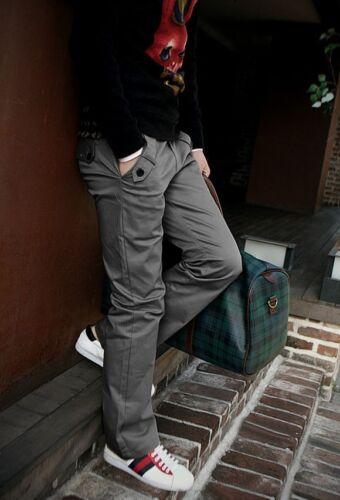 Mens Casual Pencil Dress Pants Slim Fit Straight-Leg Formal Long Trousers Slacks