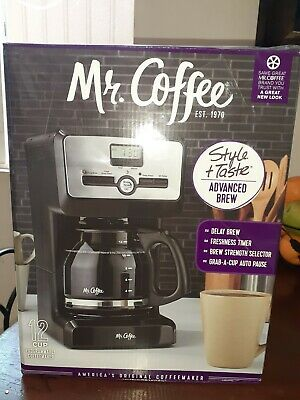 Mr Coffee Advanced Brew 12 Cup Programmable Coffee Maker Timer Brew Strength 72179234807 Ebay
