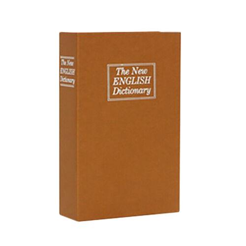 Secret Dictionary Book Safe Jewellery Money Cash Box Security Safety Key Lock we