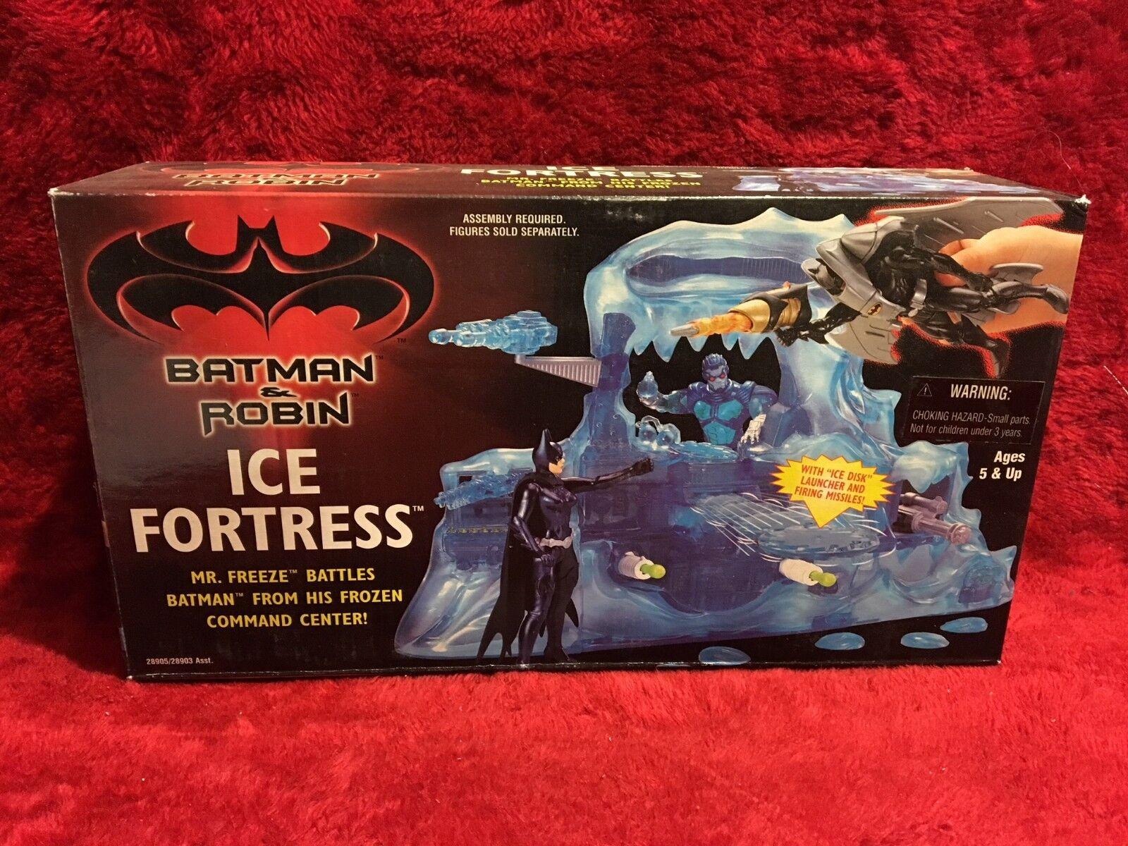 Vintage Original Batman & Robin Ice Fortress/Ice Disk Launcher & Firing Missiles
