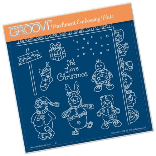 CLARITY STAMP GROOVI Parchment 148mm Embossing Plate SNOW BABY GRO-WI-41004-03