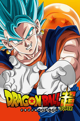 Dragon Ball Super Goku Blue Super Saiyan God 12in x 18in Poster Free Shipping