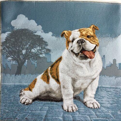 50x50 cm Hund Bulldogge Basteln Stoff NEU Gobelin Stoff Panel ca