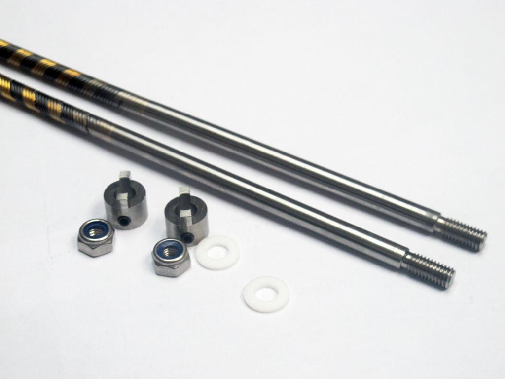 1   4  flexiblen kabel mit edelstahl. schacht 800mm linke & recht legen