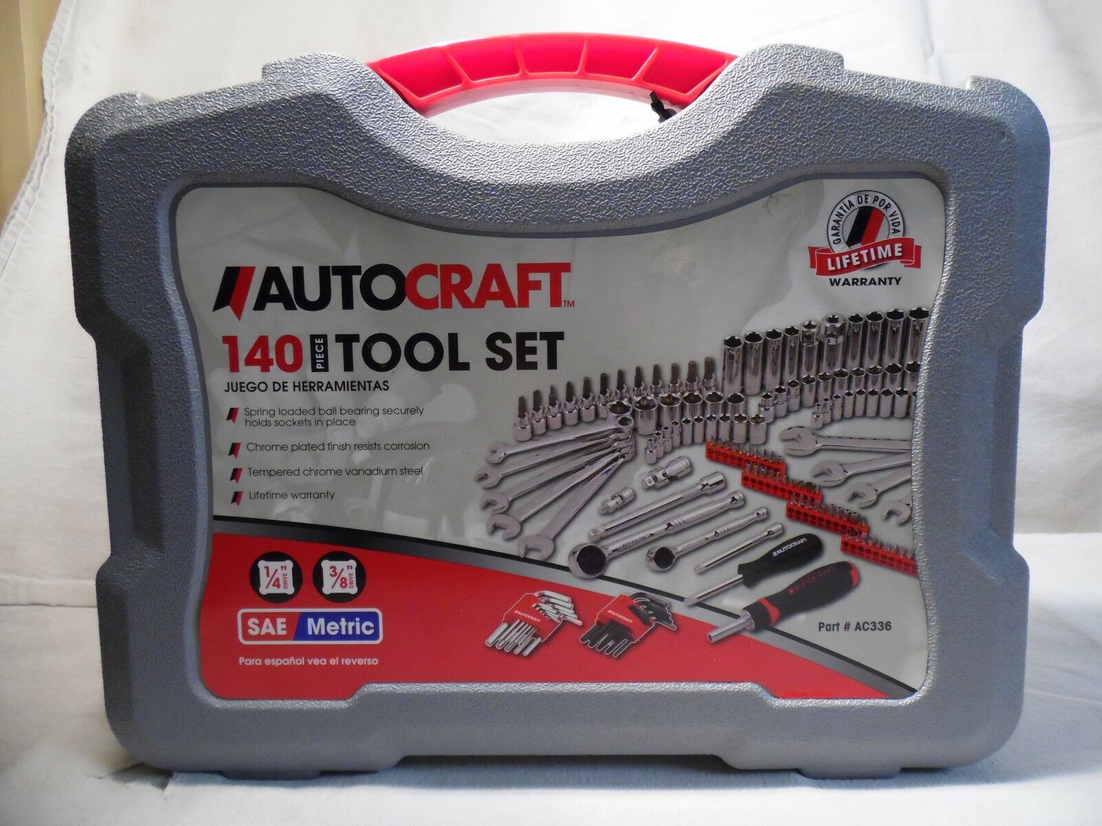 AUTOCRAFT 140 Piece Tool Kit Would make a Great Present      LOOK