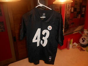 6ab2d43a00d Image is loading PRE-OWNED-NFL-PIITSBURGH-STEELERS-REEBOK-TROY-POLAMALU-