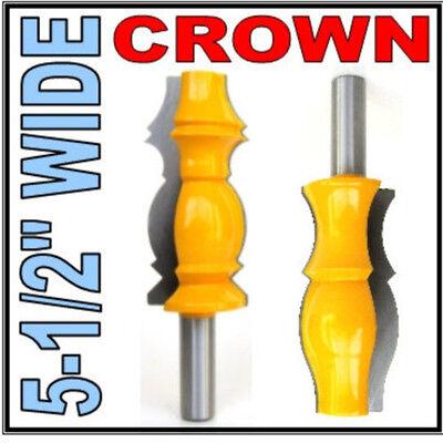 """2 pc 1/2"""" SH Wide 5-1/2"""" Long Ceiling Crown Molding Router Bit Set sct-888"""