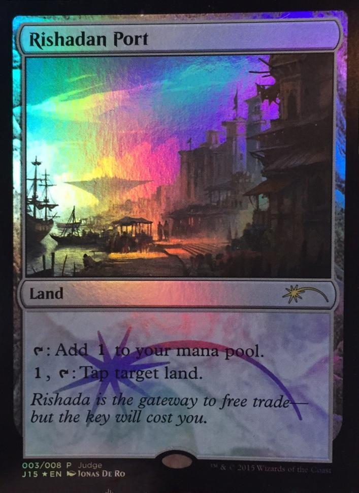 Port Rishadan PREMIUM   FOIL -  Rishadan Rishadan Rishadan Port DCI JUDGE - Magic Mtg 11d613