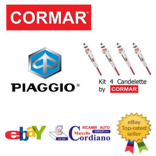 KIT 4 CANDELETTE PIAGGIO PORTER 1.2 D DA ANNO 95 CORMAR