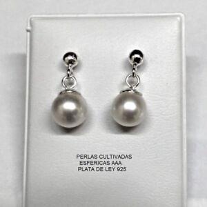 Pendientes Perlas Cultivadas Plata 1ª Ley 925 Nuevos.