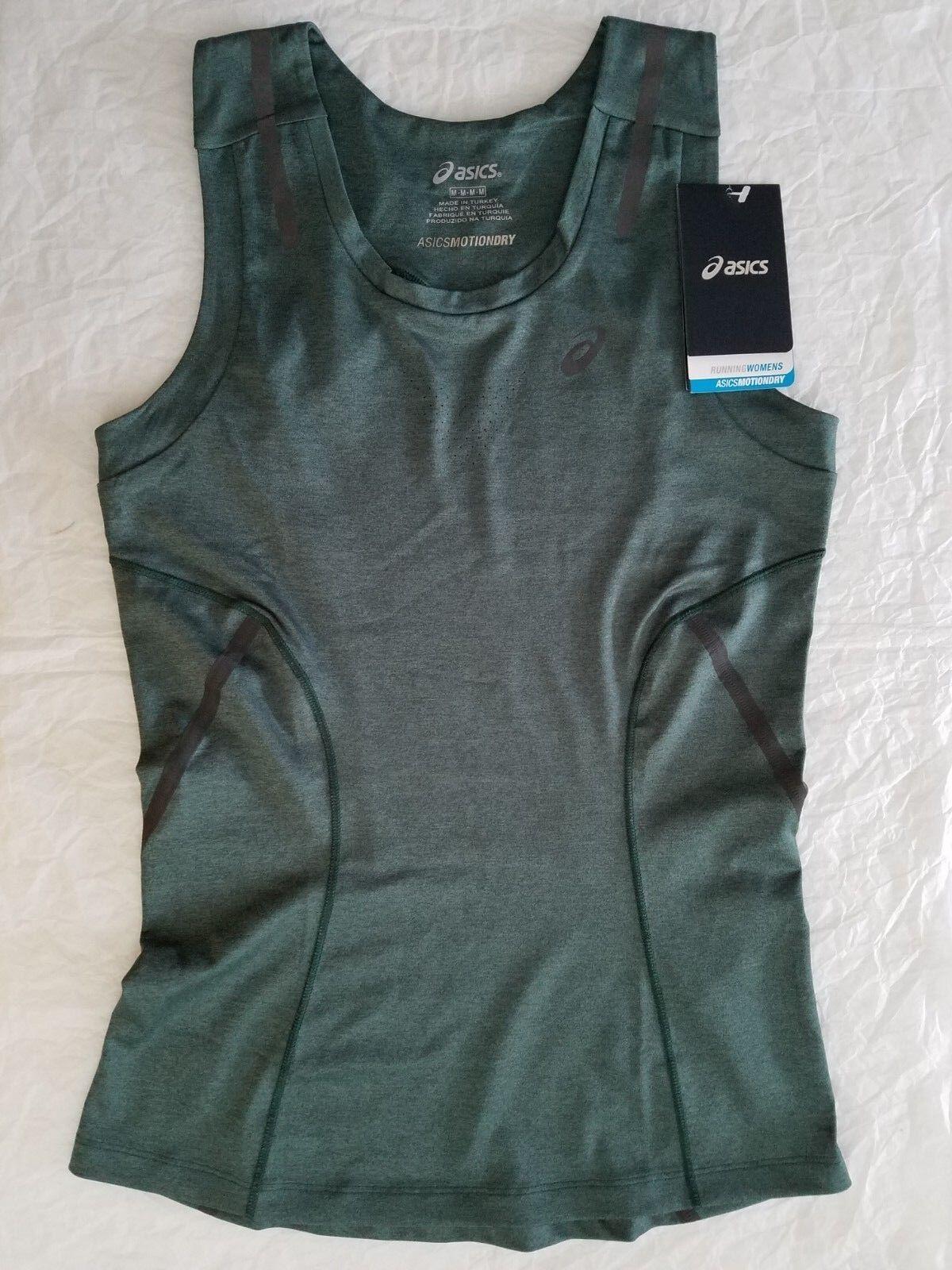 Women's asics Tank Top Vest Running Jogging Fitness Top Green - M M, XS TP