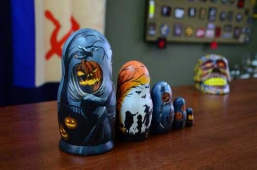 Hand Painted doll Halloween Nesting Doll Matryoshka Made In Russia
