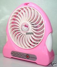 Hello Kitty Portable Rechargeable USB Desktop Fan With Battery & USB Cable