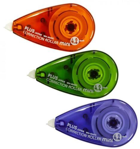 3 x PLUS JAPAN Korrekturroller Korrekturmaus MINI 4,2 mm x 6 m