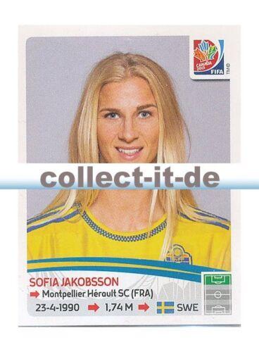 PANINI Femmes Coupe du Monde World Cup 2015-Sticker 306-Sofia Jakobsson