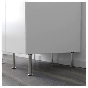 n.4 Gamba gambe supporto per mobili cucina bagno in acciaio inox ...