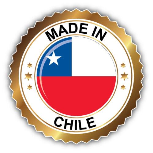 Made In Chile Label Car Bumper Sticker Decal 5/'/' x 5/'/'