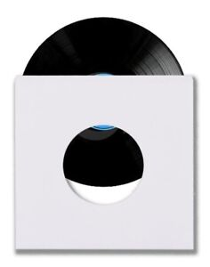 500-45-RPM-7-034-Record-Inner-Sleeves-With-Hole-Heavy-Weight-20-White-Paper-Acid