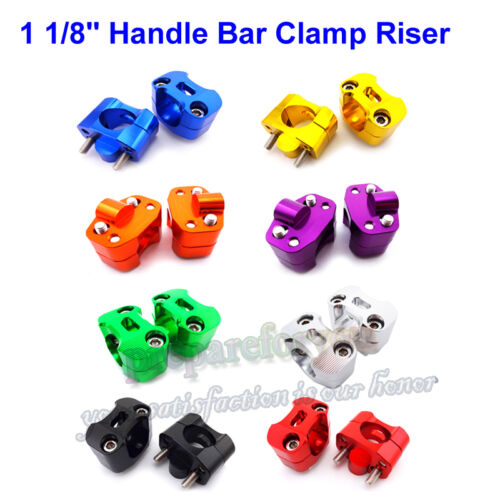 """1 1//8/"""" Fat Handle Bar Risers Clamp Adapter For Pit Dirt Bike ATV Quad Motorcycle"""