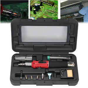 Soldering-Iron-Kit-Professional-Gas-Butane-Auto-Ignition-Torch-With-Plastic-Case