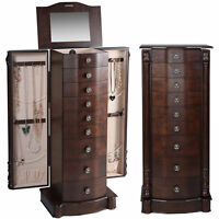 Antique Style Wooden Jewellery Cabinet Box Jewelry Chest Beauty Case Display