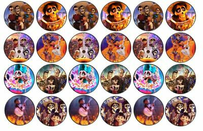 Disney Coco Theme Edible Wafer Cup Cake Disc Topper | eBay