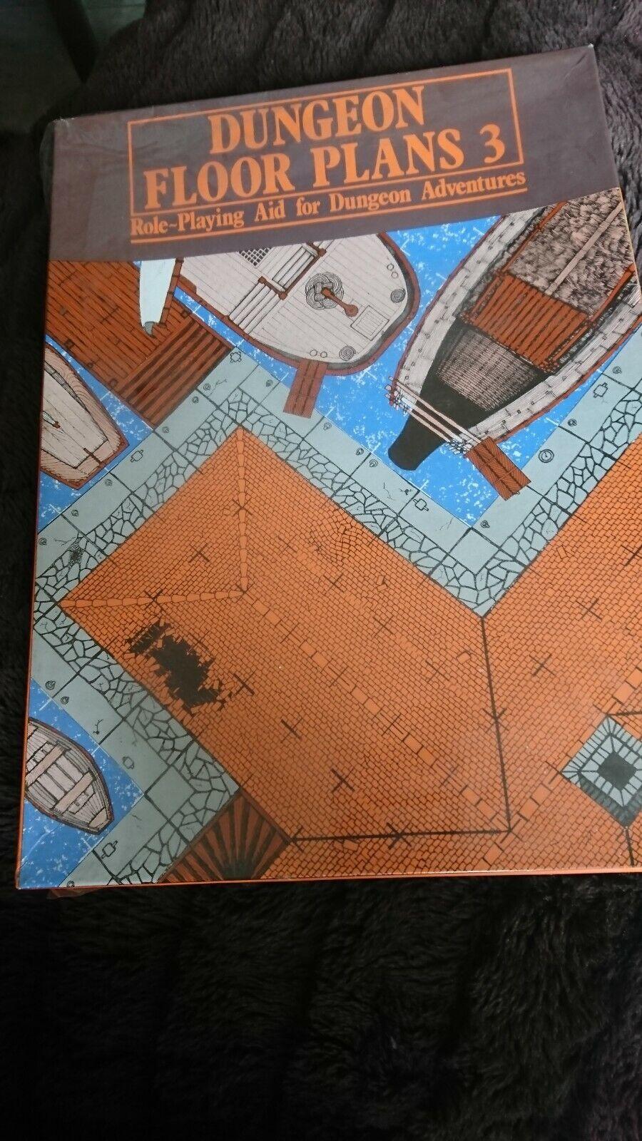 Games Workshop 1983 Dungeon Floor Plans  3 nouveau and sealed  nous prenons les clients comme notre dieu