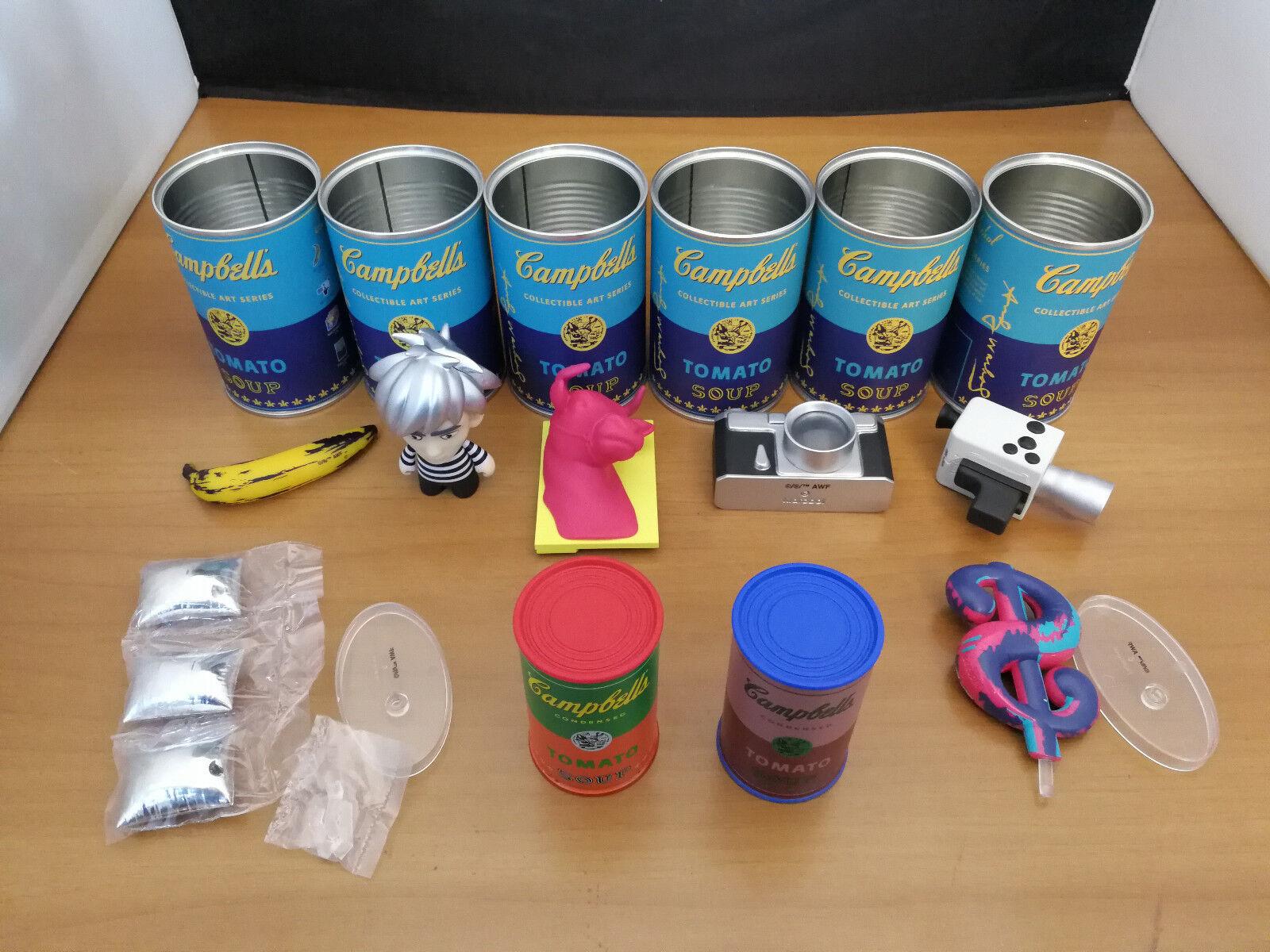Enfantrobot Andy Warhol Campbell's  Soup Can - Vinyl 9pcs Set  livraison gratuite