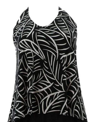 DreamShaper Miraclesuit Ozzie Tankini Swim Top Hard to Be Leaf 14 NEW A350675