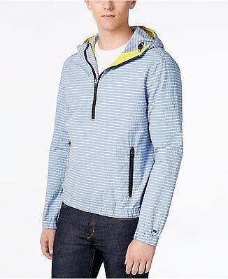 NWT TOMMY HILFIGER MEN'S Marina Anorak Striped Hoodie Shirt XXLARGE XXL