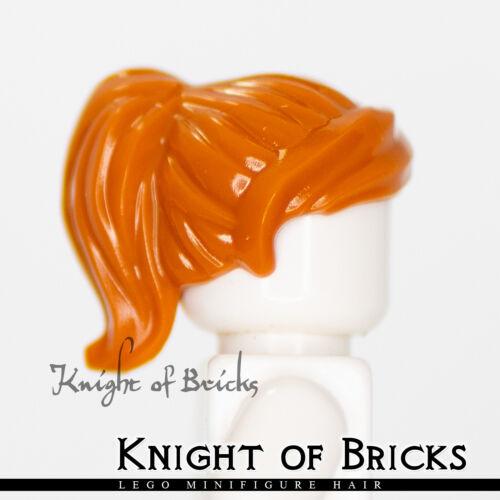 LEGO Minifigure Hair DARK ORANGE 87990 Female Girl Ponytail Swept Sideways