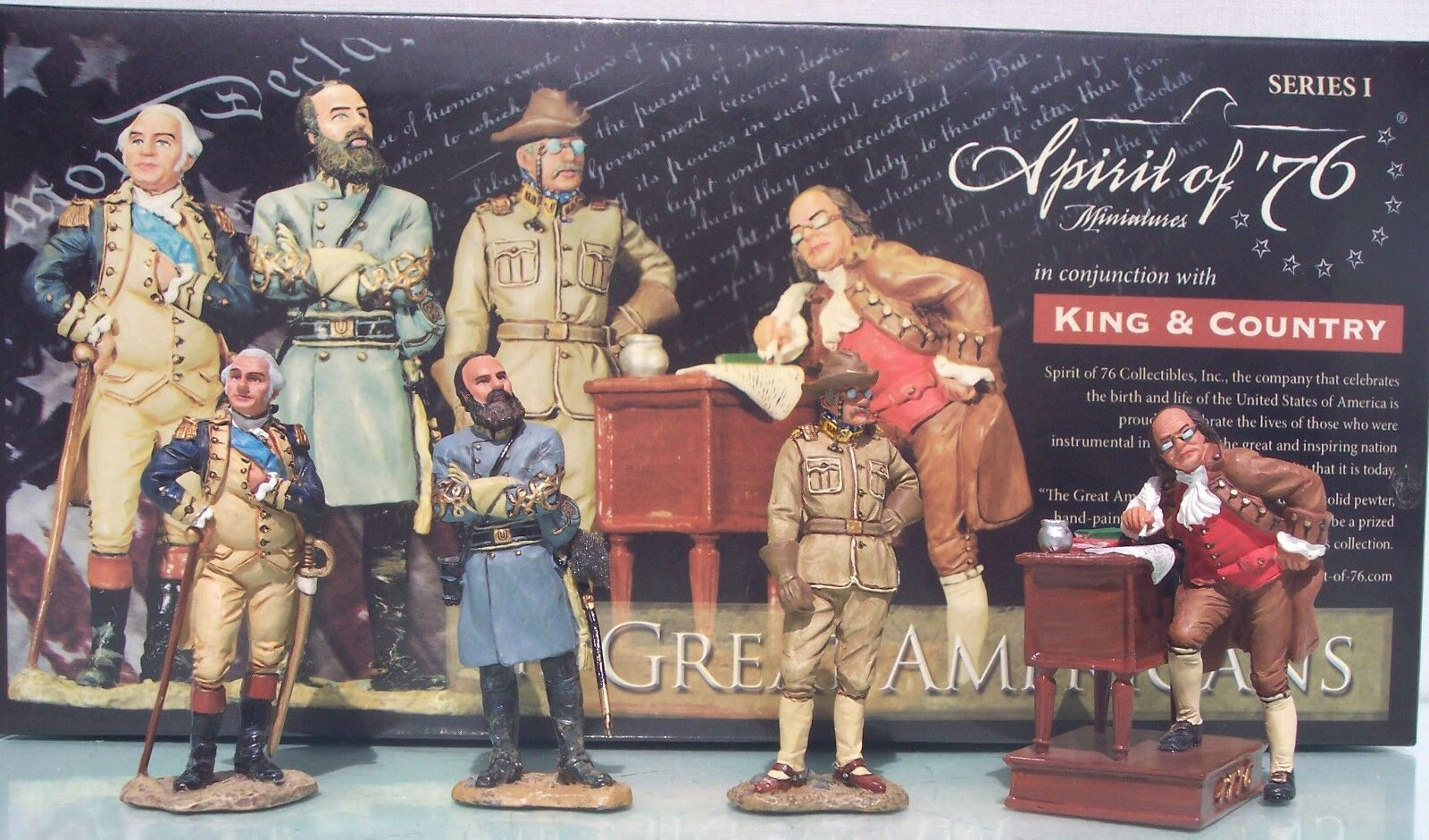 KING & COUNTRY SERIES 1 SPIRIT OF '76 THE GREAT AMERICANS MIB