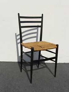 Vintage-Ladder-Back-Black-Rush-Accent-Chair